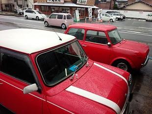 赤い車たちとスタッドレスたち03